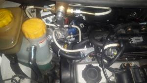 Расположение комплектующих метан на автомобиле Матиз