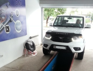 УАЗ Патриот на установке пропана в AMV Gaz Servis