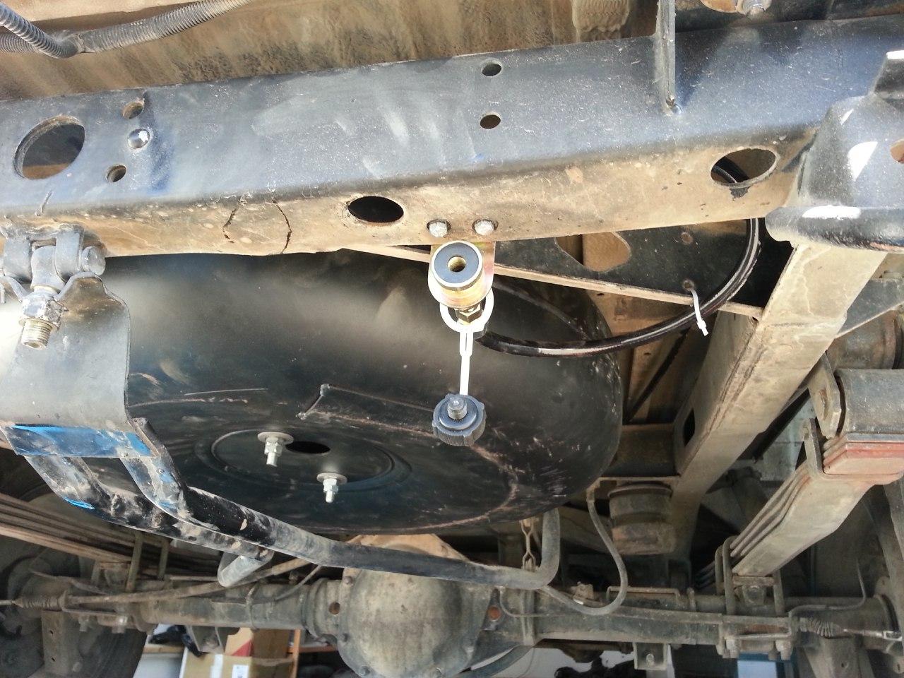 установка тороидального баллона внешнего типа на УАЗ Патриот